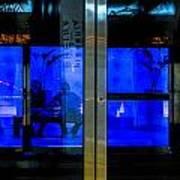 Blue Tram Windows Art Print