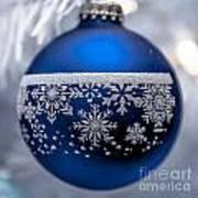 Blue Tree Ornament Art Print