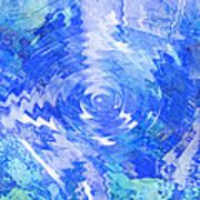 Blue Twirl Abstract Art Print by Ann Powell
