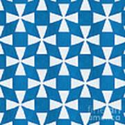 Blue Twirl Art Print