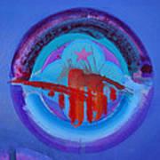 Blue Untitled Image Art Print