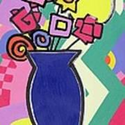 Blue Vase Art Print by Bodel Rikys
