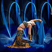 Blue Veils Art Print