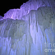 Blue Violet Ice Mountain Art Print