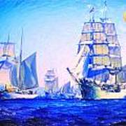 Blue Voyage To Serenity Art Print