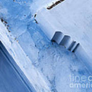 Blue Wall 03 Art Print