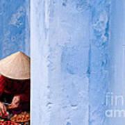 Blue Wall Hawker 01 Art Print
