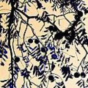 Blue Walnuts Art Print