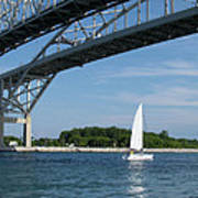 Blue Water Bridge Sail Art Print