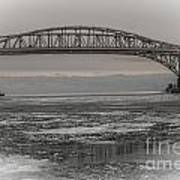 Blue Water Bridges Art Print