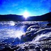 Blue Waterfall Art Print