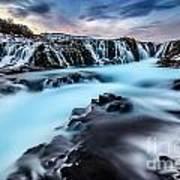 Blue Waterfalls Art Print