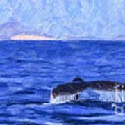 Blue Wilderness Art Print