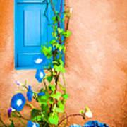 Blue Window - Painted Art Print