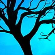 Blue Winter Art Print by Debi Starr