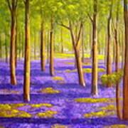 Bluebell Wood Art Print by Heather Matthews