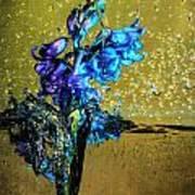 Bluebells In Water Splash Art Print
