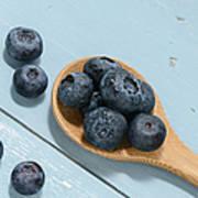 Blueberries On A Spoon Art Print