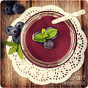Blueberry Smoothie Retro Style Photo.  Art Print