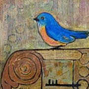 Bluebird Art - Knowledge Is Key Art Print
