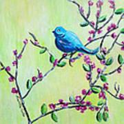 Bluebird Art Print by Lauretta Curtis