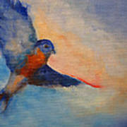 Bluebird Art Print by Susan Hanlon