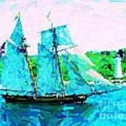Bluenose Schooner In Halifax Art Print