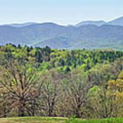 Blueridge Mountains In The Spring Art Print