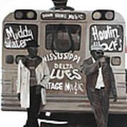 Blues Bus Art Print by Patrick Kelly