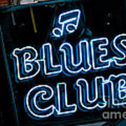 Blues Club On Bourbon Street Nola  Art Print