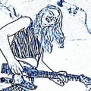 Blues In Blue Art Print