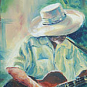 Blues Man Art Print by Sharon Sorrels