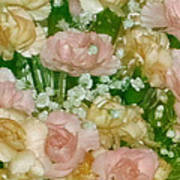 Blush Beige Floral Art Print