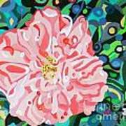 Blushing Camellia Art Print