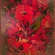 Blushing Red Flowers  Art Print