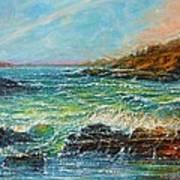 Blustery Day At Keehi Lagoon Art Print