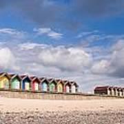 Blyth Beach Huts Art Print