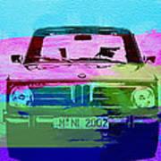 Bmw 2002 Front Watercolor 1 Print by Naxart Studio