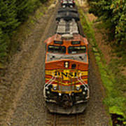 Bnsf Train 789 E  Art Print