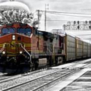Bnsf Train Art Print