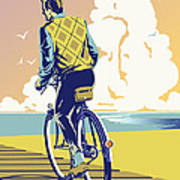 Boadwalk Bike Art Print