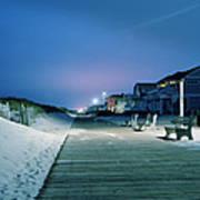 Boardwalk At Night Art Print