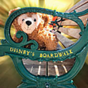 Boardwalk Bear Art Print