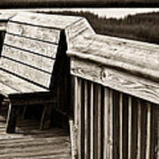 Boardwalk Bench Art Print