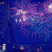 Boardwalk Fireworks Art Print