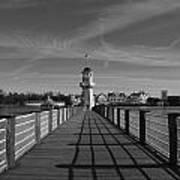 Boardwalk Lighthouse 1 Art Print