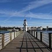 Boardwalk Lighthouse Art Print