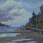 Boardwalk On Vashon Island Art Print