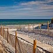 Boardwalk To Cape Cod Bay Art Print
