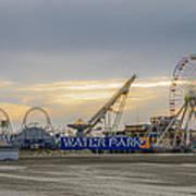 Boardwalk Waterpark Wildwood New Jersey Art Print